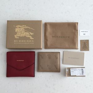 Burberry Parade Red Cufflink Case with box